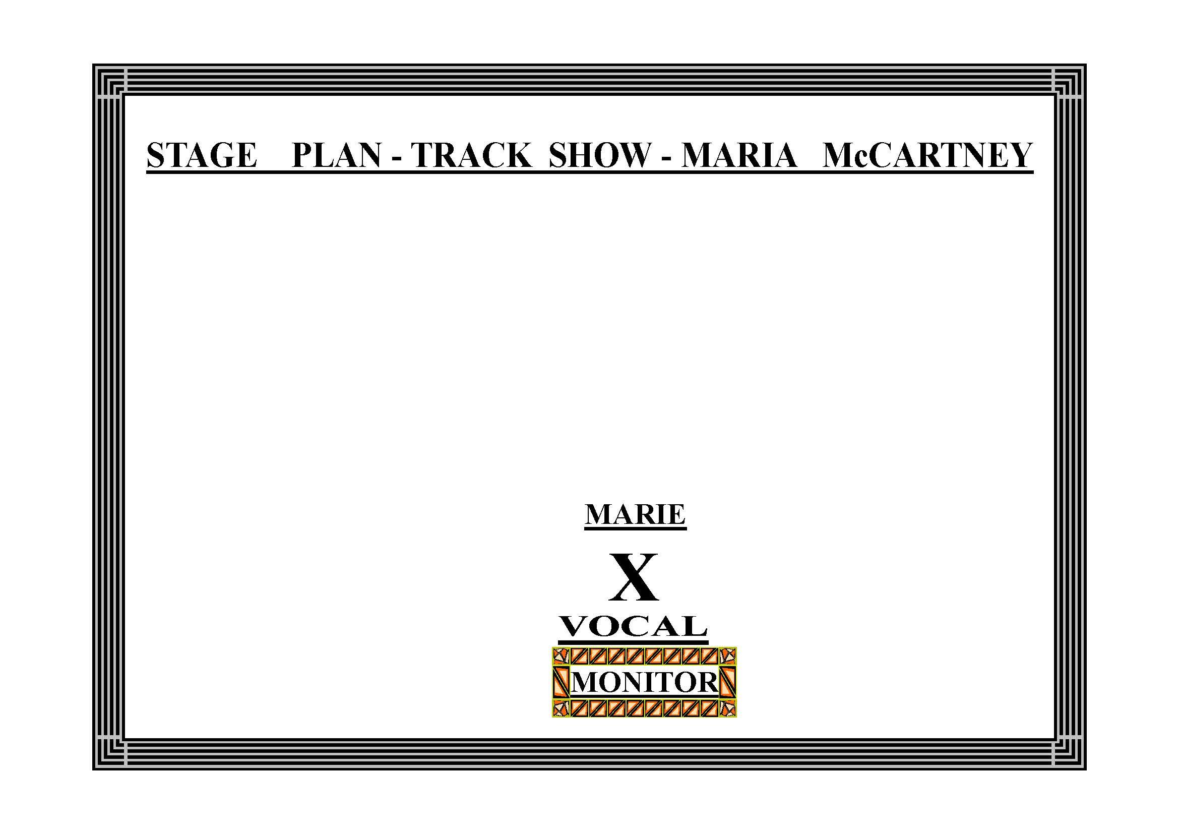MARIA mCCARTNEY STAGE PLAN - TRACK SHOW - 1