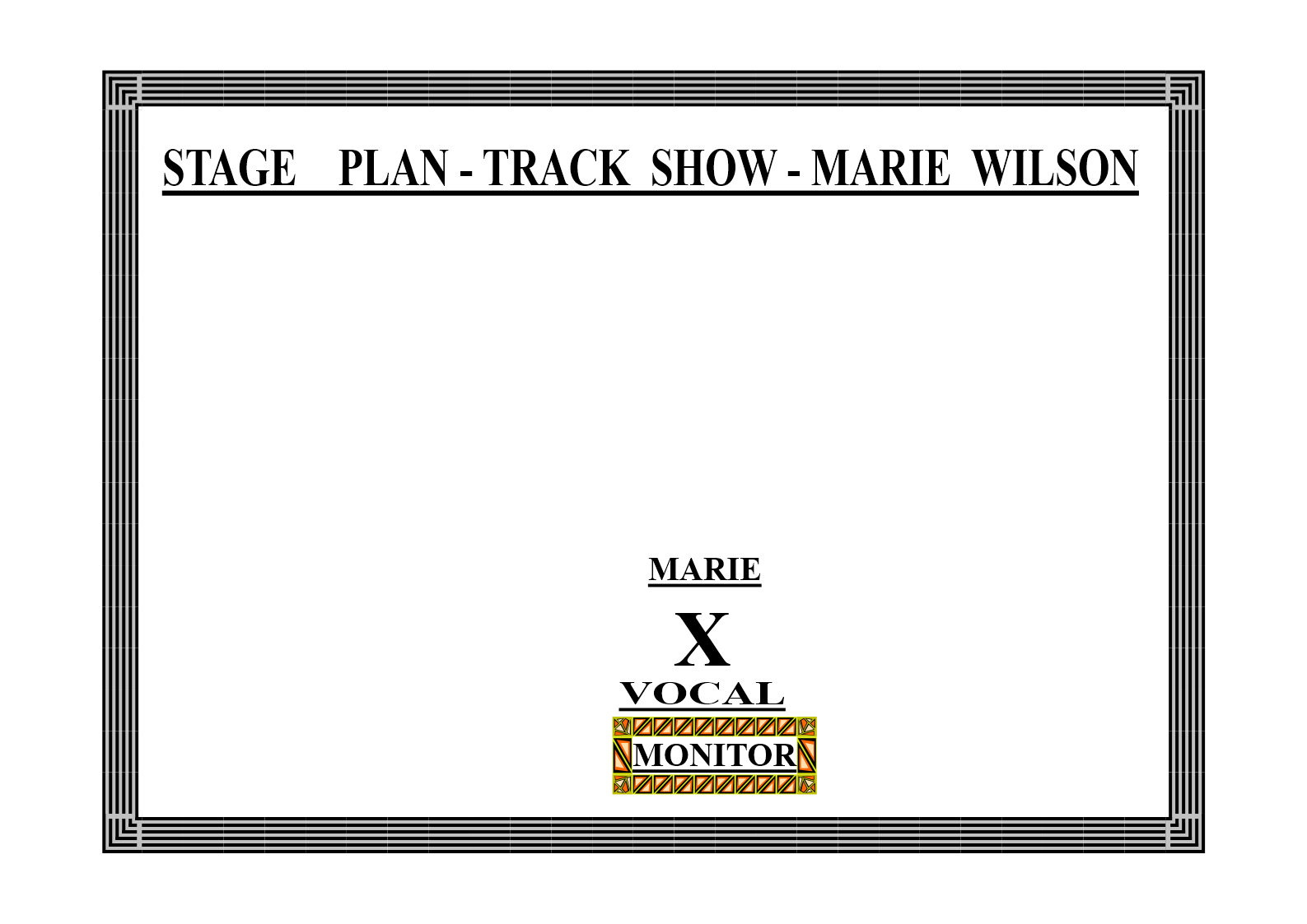 MARIE WILSON - TRACK SHOW